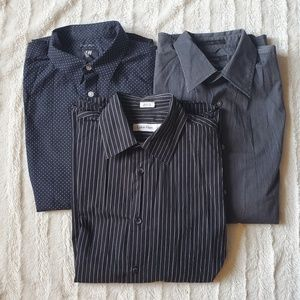 Bundle of 3 Men's Dress Shirts Size M